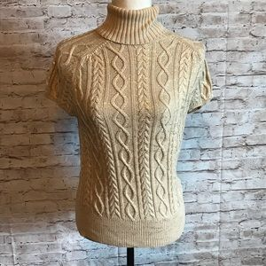 Gap short sleeve cable knit turtleneck